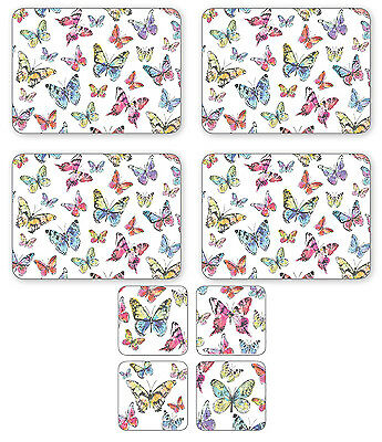 Cooksmart Butterfly Set of 4 Placemats & Coasters Table Mat Drink Dining Kitchen