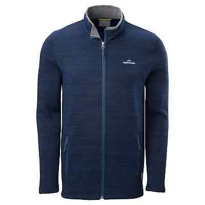 Kathmandu Aikman Mens Full Zip Cardigan High Neck Warm Jacket Top v2 Navy