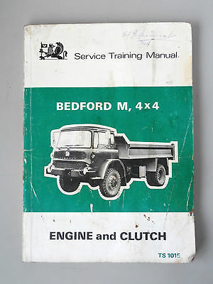 Genuine Bedford M 4x4 Service Training Manual Engine and Clutch TS 1015