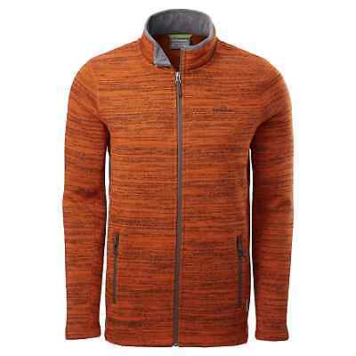 Kathmandu Aikman Mens Full Zip Cardigan High Neck Warm Jacket Top v2 Orange
