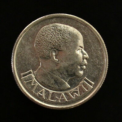 Malawi 5 Tambala. km9.2a. Africa Coin. Birds. Heads of State. Circulated