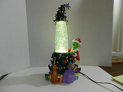 Rare 2000 Universal Studios How the Grinch Stole Christmas Glitter Lava Lamp