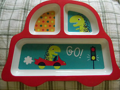 Kids plate 3 sectionr melamine hard plastic dish excellent quality New