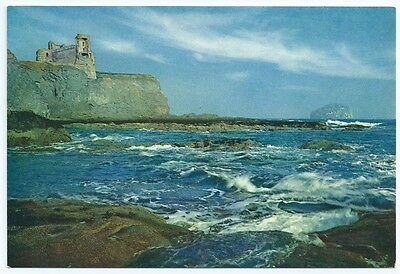 Vintage Postcard. Tantallon Castle And The Bass Rock. Unused.  Ref:5/392