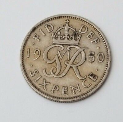 1950 - 6d / Sixpence - Great Britain - King George VI - English UK Coin