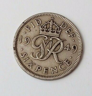 1949 - 6d / Sixpence - Great Britain - King George VI - English UK Coin