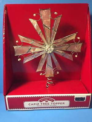 NEW! Capiz Bivalve Shell Star Christmas Tree Topper Pearl Accents
