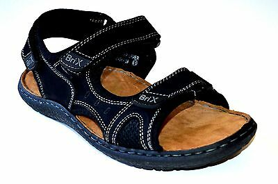 New Men's  Casual Sport 3 Adjustable  Straps  Sandals by Black & Brown Alas 09