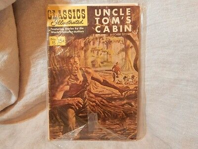 Classics Illustrated #15 [HRN 117] - Uncle Tom's Cabin (Mar 1954, Gilberton)