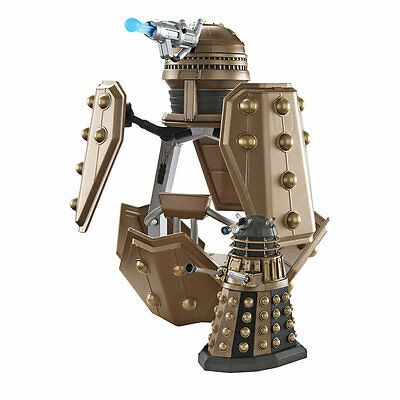 """Doctor Who Dalek Patrol Ship & Figure, 3.75"""" Battle Vehicle with Working Cannon!"""