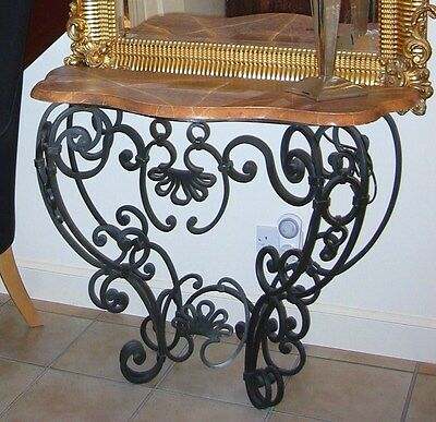 ANTIQUE French wrought-iron console table Circa early 1900s - SUPERB & SMART