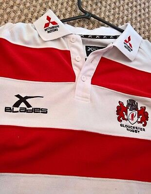 Official Gloucester Rugby Warrior Polo SMALL ADULT