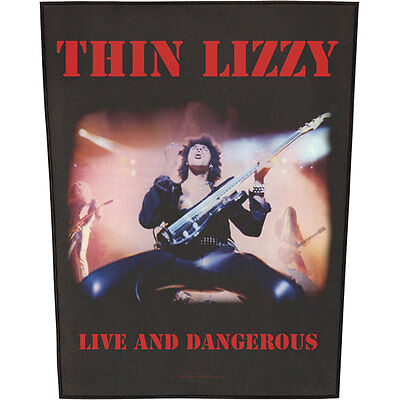 Thin Lizzy Men's Live And Dangerous Back Patch Black