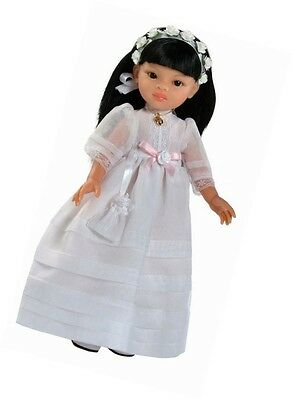 New Paola Reina 400 Liu Communion Doll True-to-Life 32 cm White Doll Collections