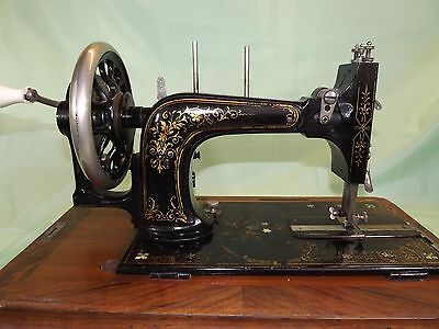 Frister and Rossmann Early Model Sewing Machine with Case ~ Antique (1876-1896)