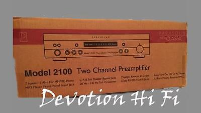 PARASOUND New Classic 2100 Two Channel PreAmplifier, New In Box