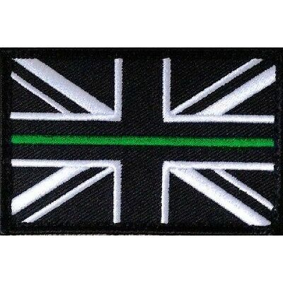 Thin Green Line Union Jack Hook & Loop Backed Patch SMALL Ambulance Paramedic