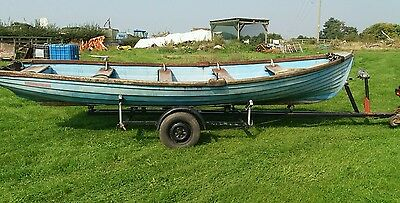 Fishing boat Anglers Fancy 19' 6 Hp outboard Irish rowing Braked boat trailer