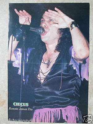 Poster Ronnie James Dio    Kiss    Pin Up   A3
