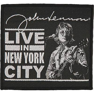 Beatles Men's Live In New York City Woven Patch Black