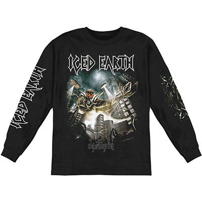 Iced Earth Men's Dystopia 2012 Tour  Long Sleeve Small Black