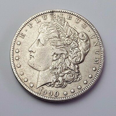 U.s.a - Dated 1900 - Silver - Morgan - $1 One Dollar Coin - American Silver Coin