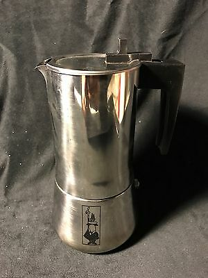 Bialetti INOX-H Stainless Steel 18/10 Espresso Coffee Maker MADE IN ITALY