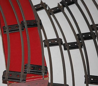Hornby Series O Gauge Half A Dozen Curved Rails With Connectos Pre War Boxed
