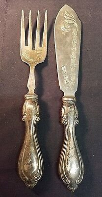 Antique Formal Cutlery Set - Italy, Engraved, Stainless Steel & Silver-plated