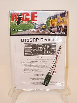NCE #102 HO D13SRP DCC Decoder for 8-Pin NMRA sockets HO engines NEW