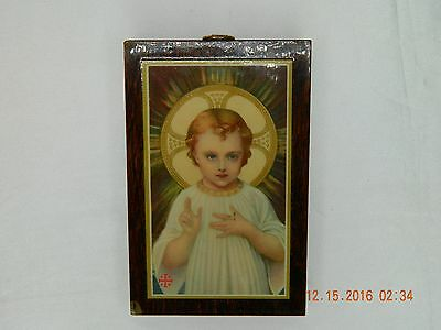 Antique Child Jesus Plaque Commissariat Of The Holy Land - Franciscan Monastery!