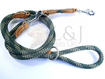 Finest quality Rope Lead Leash with Genuine Leather Attachments. Good and Strong