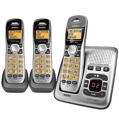 Uniden DECT 1735 + 2 Cordless Digital Phone System With Power Failure Backup