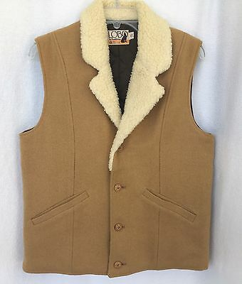 LOBO by Pendleton 100% Wool Western Vest Quilted Lining Men's 40 VTG