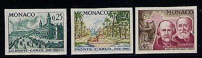 Monaco Stamp Y# 691,693,696 Imperf Color Trial Mnh
