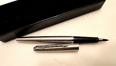 Vintage Parker Rollerball Capped Pen Stainless Steel