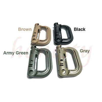 2/5Pcs Military Products EDC Grimloc Molle Locking D-ring Webbing Buckle