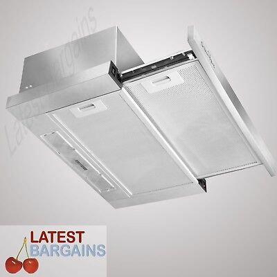60cm Stainless Steel Rangehood Canopy Slide Out 600mm Range Hood NEW