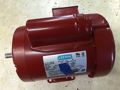 110086.00 1/2HP LEESON Electric Motor, Tefc, 1725 Rpm, 56 Frame, 1 Ph. 115/230V.