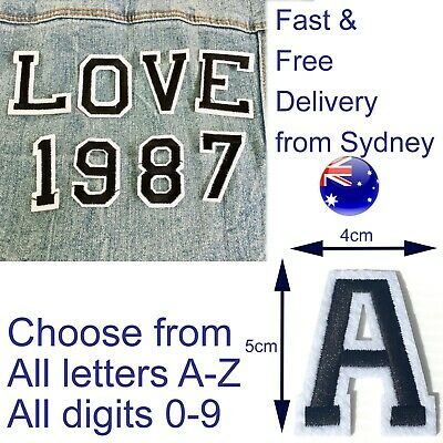 Alphabet iron on patches - All Letter A-Z 0-9 patch - Spell any word or number