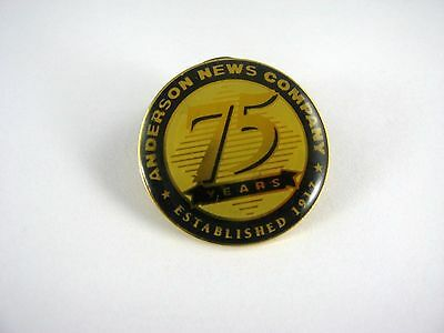 Vintage 1992 Collectible Pin: Anderson News Company 75 Years