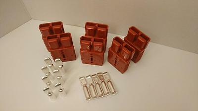 6 Charger Plugs+Contacts, #0Awg, Anderson, Sb175A-600V, Forklifts, Boats, 4X4
