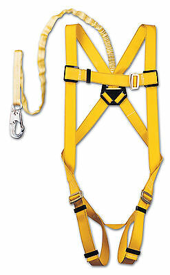 HARNESS with DECELERATOR ENERGY ABSORBING LANYARD