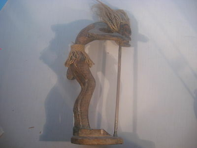Mexican Wood Protection Statue Carving