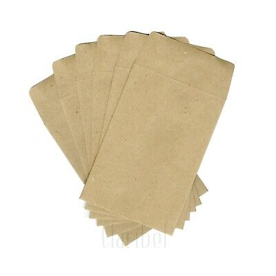 Mini Small Envelopes Wedding Bomboniere Favours Kraft Brown Seed Packets