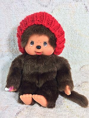 "Monchhichi Doll Sekiguchi 8"" Beanie Hat Plush Stuffed Animal New"