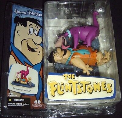 Fred Flintstone With Dino Hanna Barbera Series 2 Mcfarlane Figure New in Package