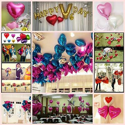Decoration Engagement Helium 18 Inch Foil Balloons Heart Shape Party Birthday