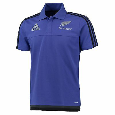 Adults Large All Blacks Rugby Polo Purple EB72