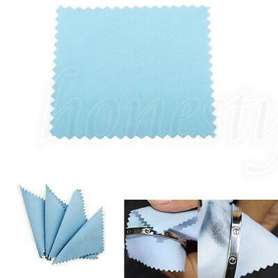 10~100X Anti-Tarnish Silver Jewelry Polishing Cleaner Cleaning Cloth 80mmX80mm